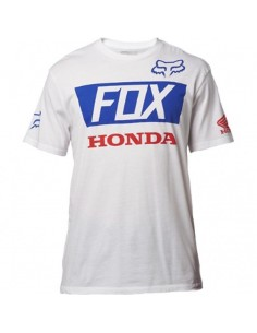 T Shirt Fox Honda basic standard nera