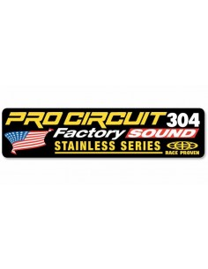 Exhaust Decal 2 Stroke Pro circuit 304 1860-0639 Pro Circuit Aufkleber-Stickers