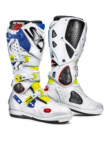 Boots SIDI Crossfire 2 SRS Fluo Yellow-White-bluee MFIRE2SRS Sidi Bottes cross