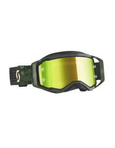 Goggles mx Scott Prospect Kaki Green - Yellow Chrome Works Lens 2728216312289 Scott Goggles