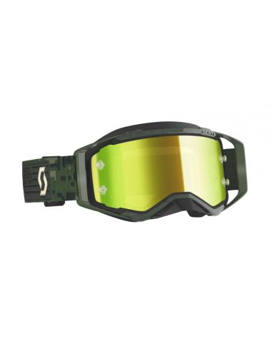 Goggles mx Scott Prospect Kaki Green - Yellow Chrome Works Lens 2728216312289 Scott Brillen