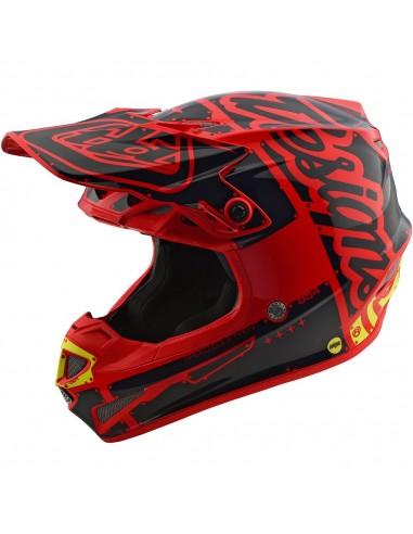 Helmet Youth SE4 Troy Lee Desing Factory Red TLD 114008404 Troy lee Designs Casques cross enfants
