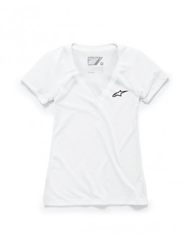 Women's Alpinestars Ageless Vneck tee white 1W38-73000(20) Alpinestars T-shirts-tops
