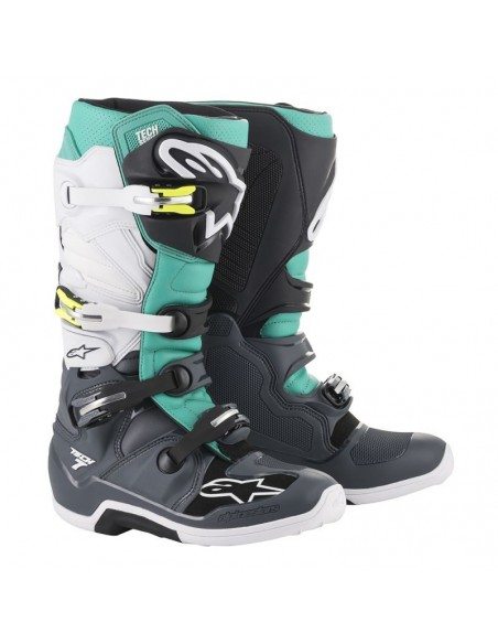 Boots Alpinestars Tech 7 DARK GRAY-TEAL-WHITE 2012014-9072 Alpinestars Boots