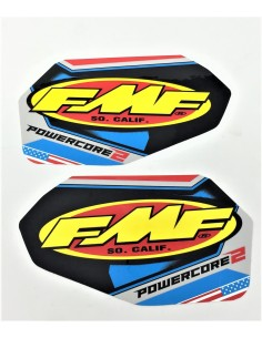 FMF DECAL LOGO POWERCORE 2 PATRIOTIC VINYL 012694-18600654 Fmf Zubehor