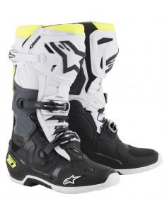 ALPINESTARS TECH 10 BOOT BLACK-WHITE-FLUO YELLOW 2010019-125- Alpinestars Stiefel