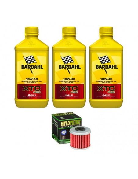Kit 3 litri olio motore Bardahl XTC e filtro olio omaggio KITOLIOMEFILHF