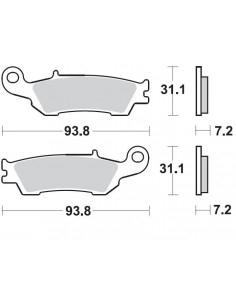 Brake pads Braking CM46 929CM46 Braking Bremsbeläge and brake caliper