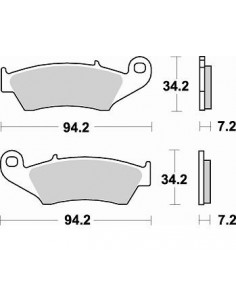 Brake pads Braking CM46 772CM46 Braking Brake pads and brake caliper