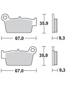 Brake pads Braking CM46 890CM46 Braking Bremsbeläge and brake caliper