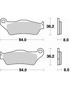 Brake pads Braking CM44 746CM44 Braking Bremsbeläge and brake caliper