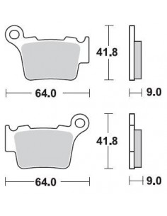Brake pads Braking CM44 891CM44 Braking Brake pads and brake caliper