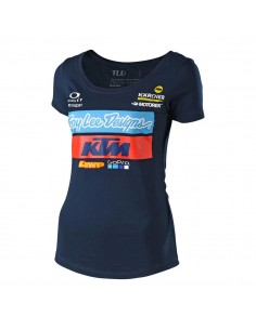 T-Shirt Troy Lee Desing TLD Team Navy Woman 2020 75374000 Troy lee Designs T-shirts-maillots de corps