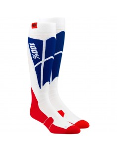 Socks 100% hi Side white blue 3431055 100% Socks-Shorts