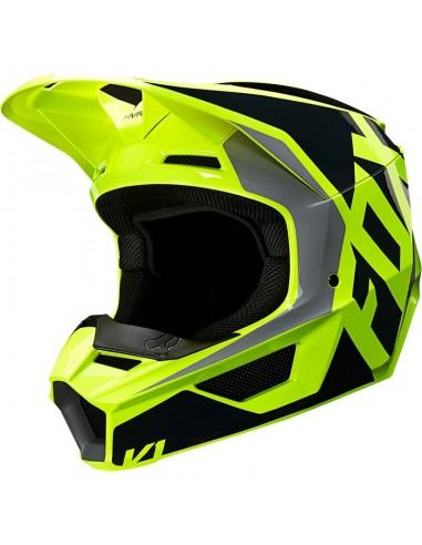 Helmet Fox V1 MX 2020 Lovl Black-Yellow 25471-019 Fox Helmets