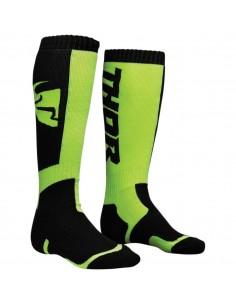 Sock S8 Youth Thor MX Black/Lime 34310383 Thor Kids Motocross Protection