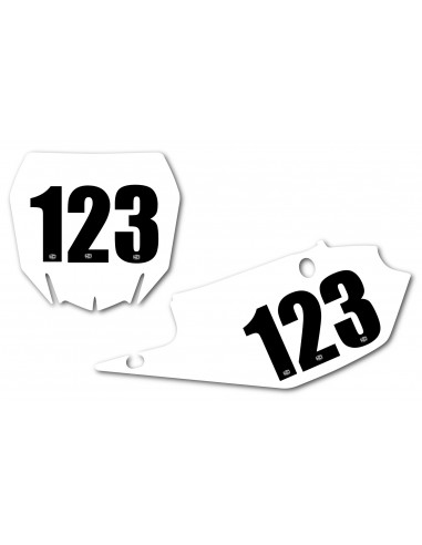Numero Gara adesivo 13.0 x 7.0 cm 3 Pz Nero NumGaratrip