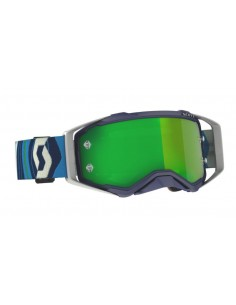Goggle Scott Prospect Blue/Green with Green chrome works 2728211413279 Scott Goggles
