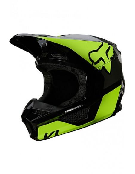Helmet FOX Youth V1 Revn Fluo Yellow 25876-130 Fox Kids Motocross Helmets