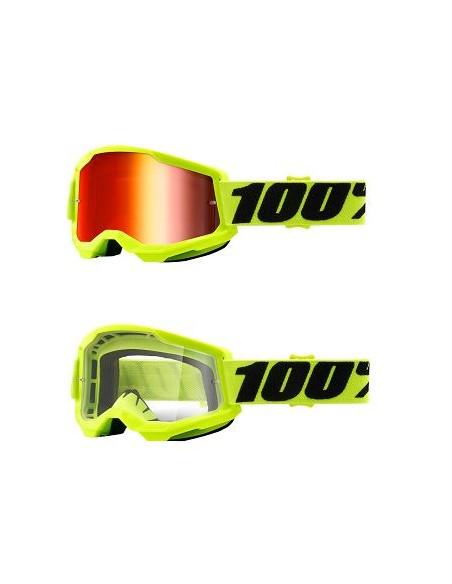 Goggle 100% Strata 2 Yellow 2601292 100% Goggles