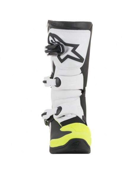 Boots Tech 3S Youth Alpinestars Black/White/Yellow Fluo 2014018-125 Alpinestars Kids Motocross Boots