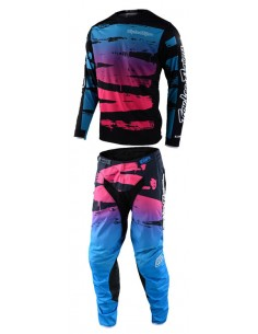 Gear Set Youth TLD Troy Lee Design GP Limited Brushed Navy/Cyan 30989503+20989503 Troy lee Designs Kids Clothing Motocross Gear