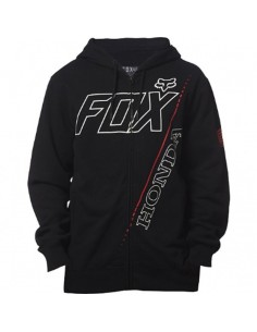 Felpa Honda zip Fleece nera