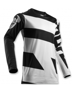 Jersey Thor Pulse Level White-Black 3427 Thor Motocross jersey and pants