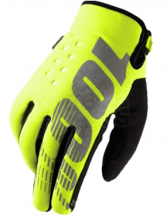 Winter Gloves 100% Brisker Fluo Yellow