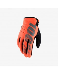 Winter Gloves 100% Brisker Orange 3776 100% motocross-handschuhe