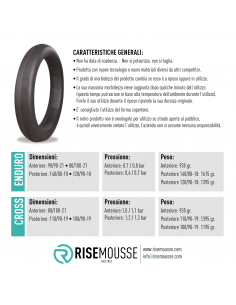 Mousse Risemousse enduro M.E Risemousse Inner Tube and Mousse