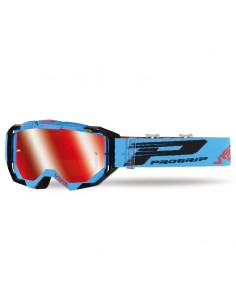 Goggle Pro Grip VISTA Teal with Red Mirror Lens 9-3303/FL TN ProGrip Masques cross