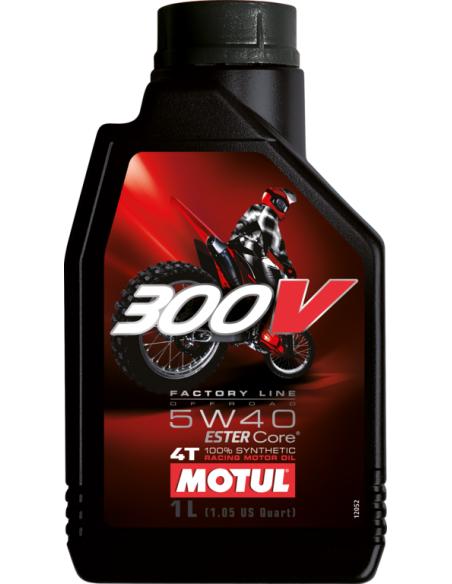 Olio Motore MOTUL 300V Factory Line off road 5W40 104134