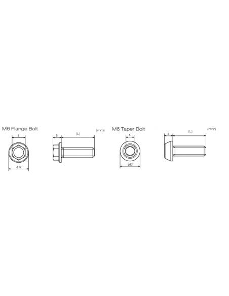 Viti alluminio 7075 anodizzate M6 testa esagonale DRC 518