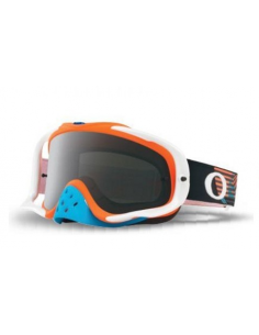 Occhiale I maschera Oakley Crowbar Circuit Blue Orange - Lente Dark Grey